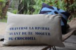 coussin croco bis